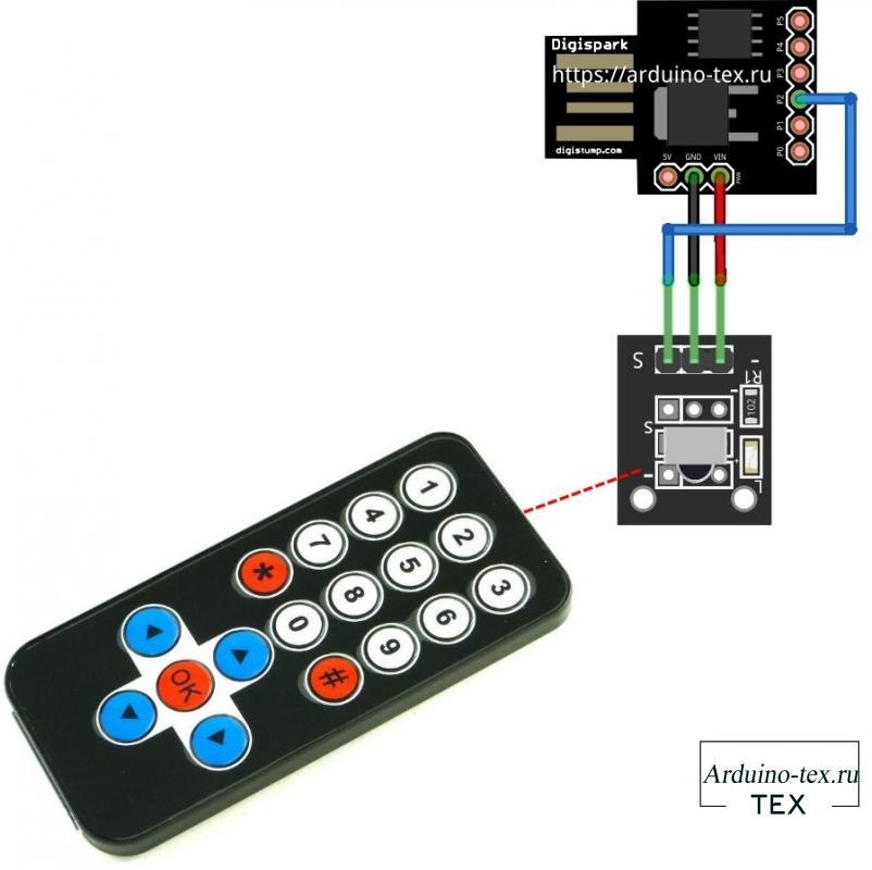 Схема подключения устройства удаленного управления ПК.