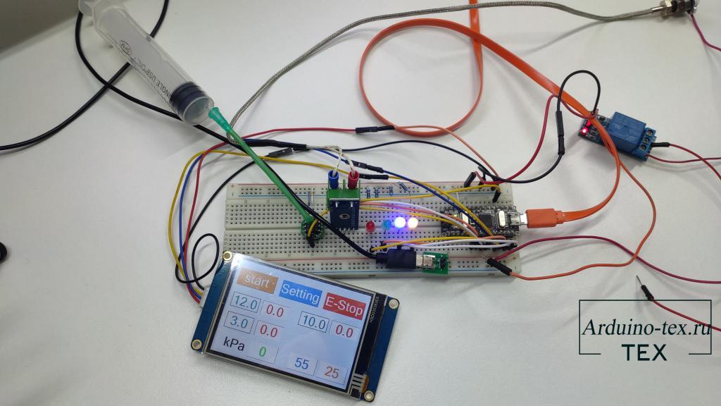 автоматизация вакуумного пресса с применением дисплея Nextion и Arduino NANO